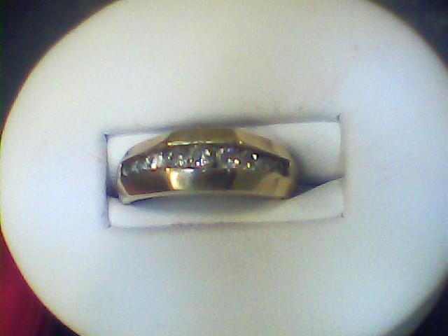 Lady's Diamond Wedding Band 9 Diamonds .54 Carat T.W. 10K Yellow Gold 2.7dwt