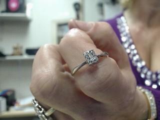 Lady's Diamond Engagement Ring 11 Diamonds .30 Carat T.W. 10K White Gold