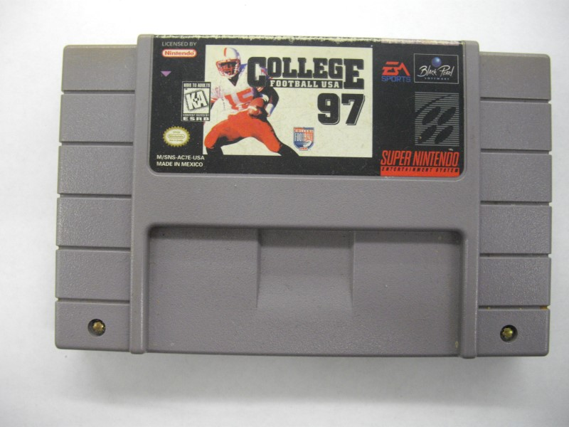 NINTENDO SNES Game COLLEGE FOOTBALL 97 *CARTRIDGE ONLY*