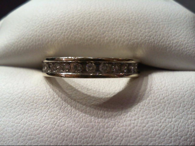 Lady's Diamond Wedding Band 11 Diamonds .25 Carat T.W. 10K White Gold 3g