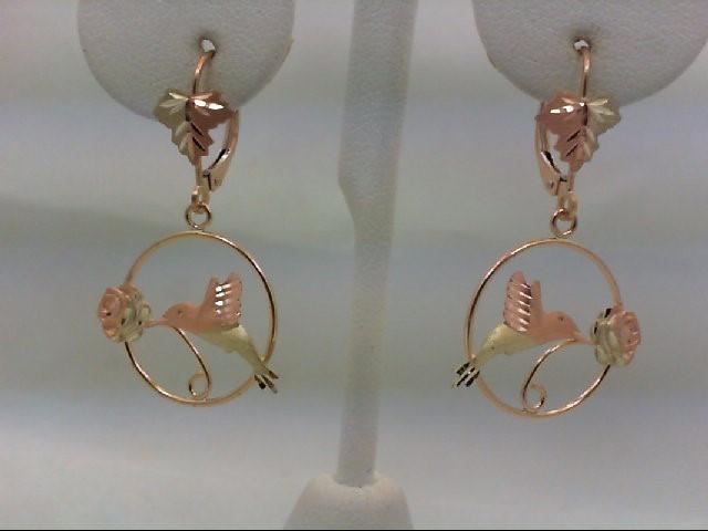 Gold Earrings 10K Tri-color Gold 2.2g