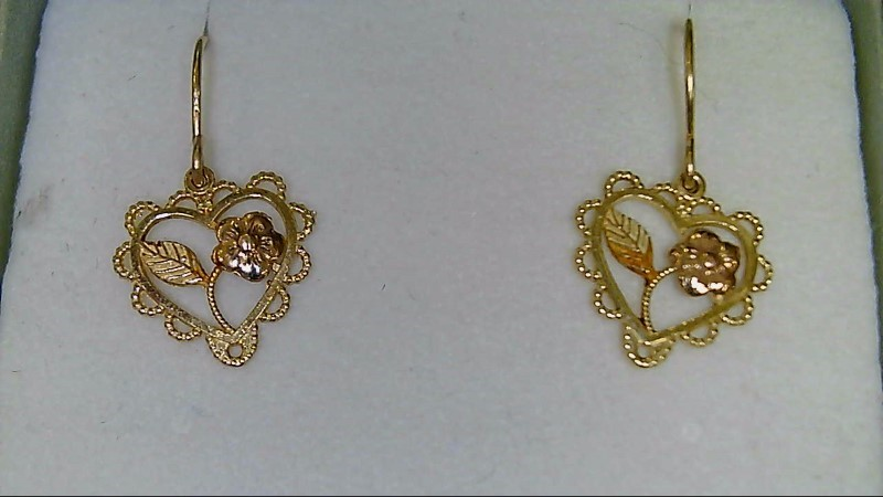 Gold Earrings 14K Yellow Gold 0.6g