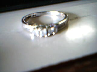 Lady's Gold-Diamond Anniversary Ring 7 Diamonds .13 Carat T.W. 14K White Gold
