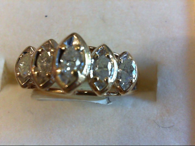 Lady's Diamond Wedding Band 5 Diamonds .50 Carat T.W. 10K Yellow Gold 3.06g
