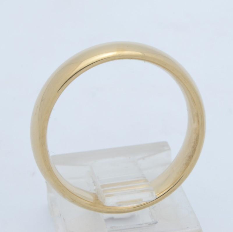 ESTATE WEDDING RING BAND SOLID 14K GOLD MENS 5MM PLAIN COMFORT SZ 7.5