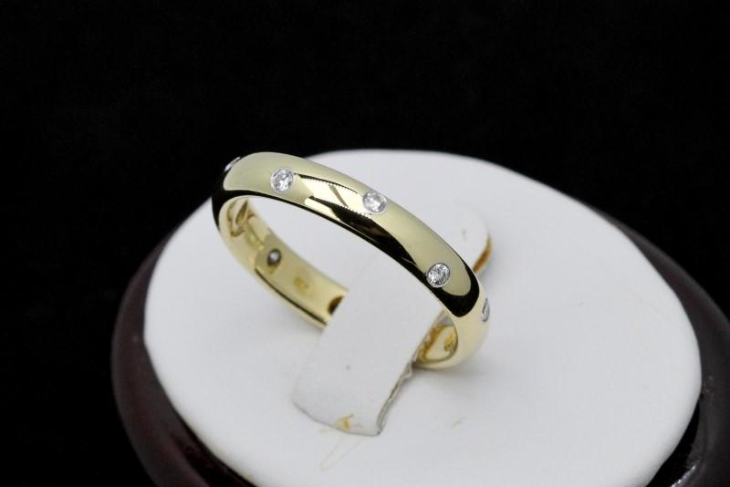 Tiffany & Co. Gent's Gold-Diamond Wedding Band 10 Diamonds .30 Carat T.W.