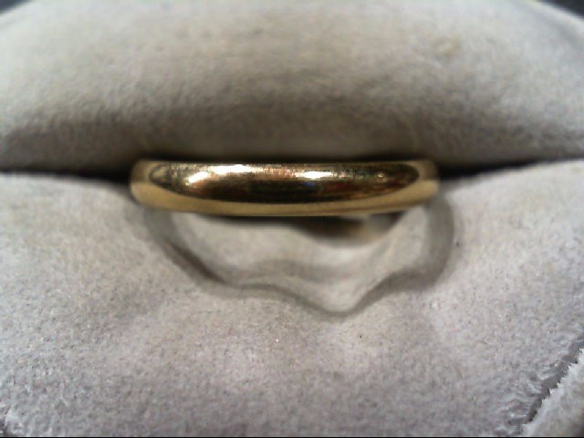 Gent's Gold Wedding Band 10K Yellow Gold 2.3g Size:8.8