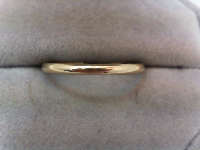 Lady's Gold Wedding Band 14K Yellow Gold 0.9g