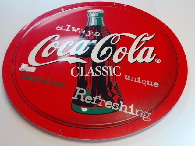 COCA COLA BUTTON SIGN