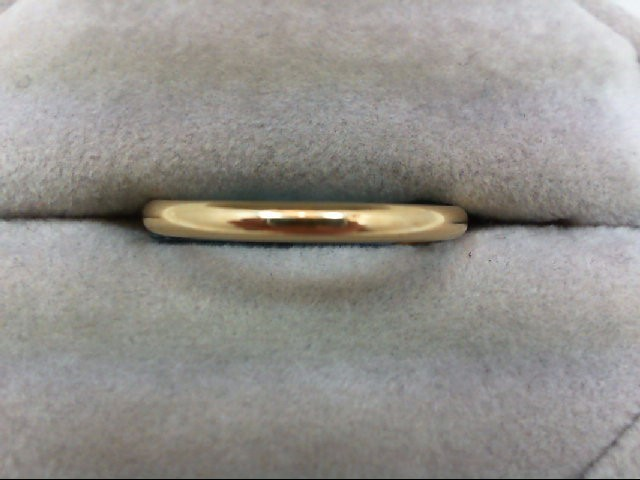 Lady's Gold Wedding Band 10K Yellow Gold 1.8g Size:8.5