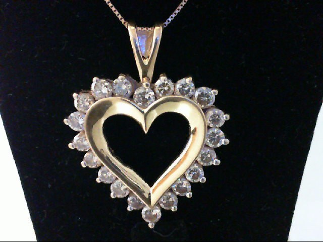 Gold-Multi-Diamond Pendant 20 Diamonds 2 Carat T.W. 14K Yellow Gold 6g