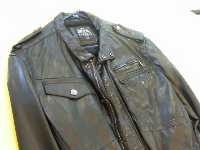 EXPRESS Coat/Jacket BLACK LEATHER JACKET