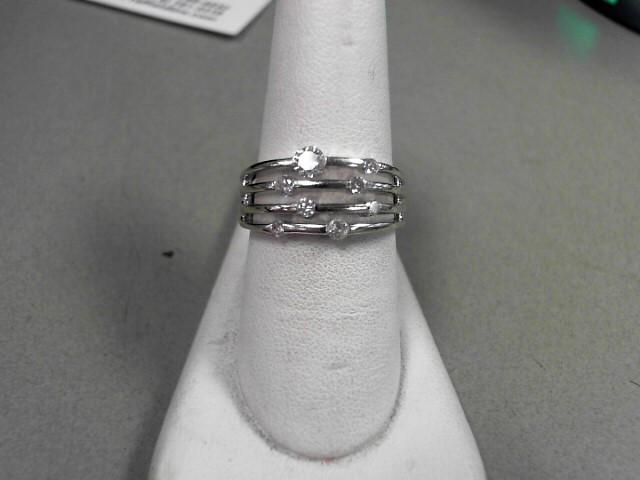 Lady's Diamond Fashion Ring 8 Diamonds .49 Carat T.W. 14K White Gold 5.6g