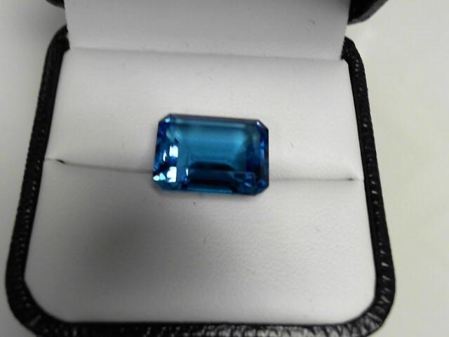 Blue Topaz Semi Precious Stone Emerald Cut