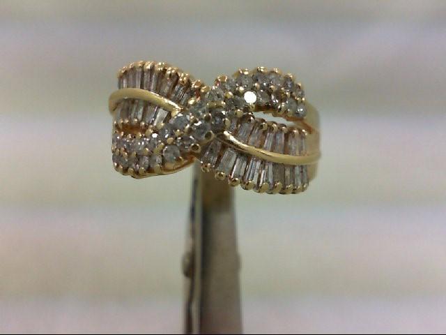 Lady's Diamond Wedding Band 62 Diamonds 1.09 Carat T.W. 14K Yellow Gold 6.1g