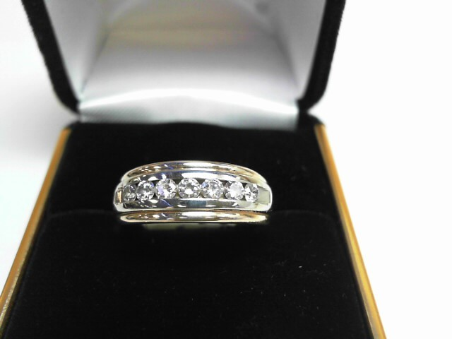 Gent's Diamond Cluster Ring 7 Diamonds .63 Carat T.W. 14K Yellow Gold 3.5dwt