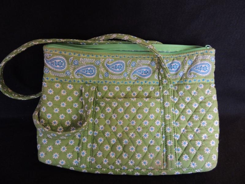 VERA BRADLEY Handbag GRAND TOTE SHOPPER APPLE GREEN