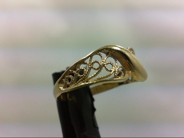 Lady's Gold Ring 14K Yellow Gold 1.3g Size:7