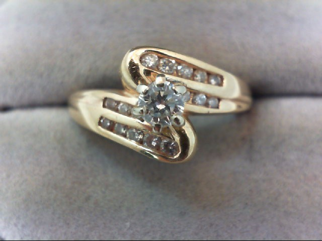 Lady's Diamond Wedding Set 17 Diamonds .68 Carat T.W. 14K Yellow Gold 5.3g