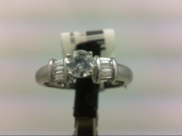 Lady's Platinum-Diamond Ring Guard 7 Diamonds .54 Carat T.W. 999 Platinum 3.56g