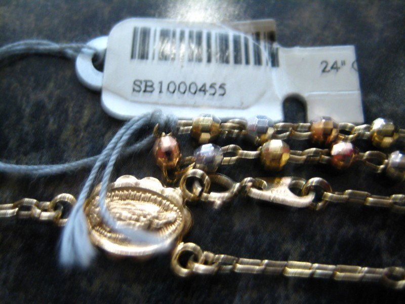 "24"" Gold Chain 14K Tri-color Gold 8.03g"
