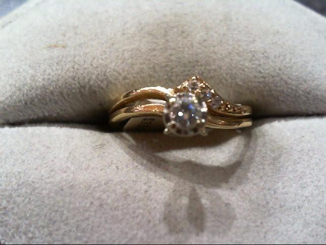 Lady's Diamond Wedding Set 3 Diamonds .14 Carat T.W. 10K Yellow Gold 2.1g