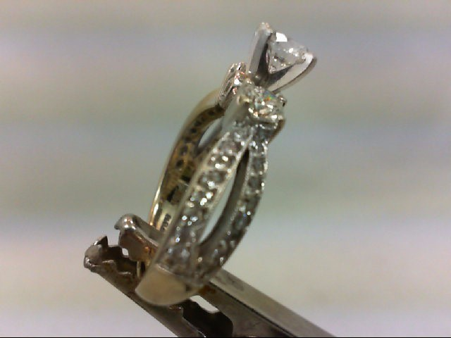 Lady's Diamond Engagement Ring 37 Diamonds 1.58 Carat T.W. 18K White Gold 6.45g