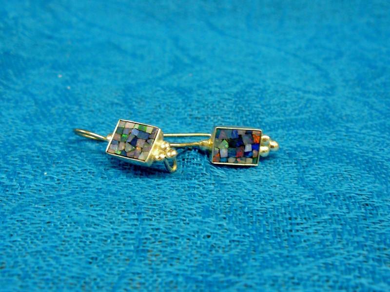 Opal Silver-Stone Earrings 925 Silver 1.2dwt