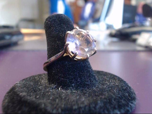 Pink Stone Lady's Stone Ring 14K Yellow Gold 4.55g