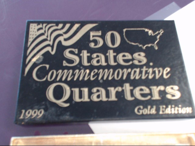UNITED STATES Collection 50 STATES COMMEMORATIVE QUARTERS 1999 Gold Edition