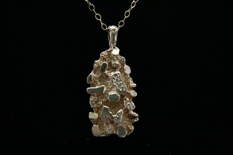 NUGGET STYLE PENDANT 14K YELLOW GOLD