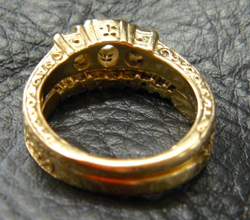 Lady's Diamond Wedding Set 12 Diamonds .89 Carat T.W. 14K Yellow Gold 5.1dwt