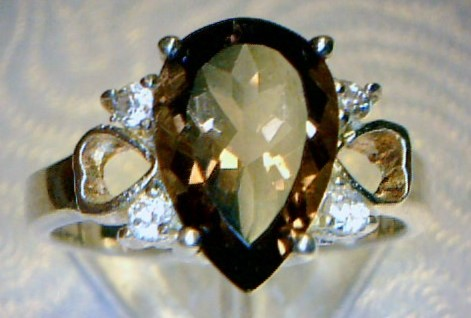 Gray Stone Lady's Silver & Stone Ring 925 Silver 2.3dwt Size:6.8