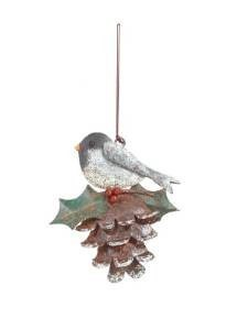REGAL ART & GIFT 05329 CHICKADEE ON PINECONE ORNAMENT