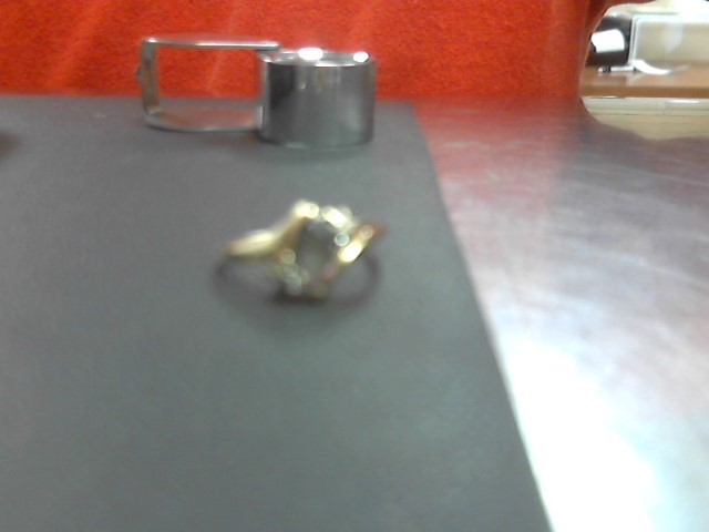 Purple Stone Lady's Stone Ring 10K Yellow Gold 1.8g Size:6