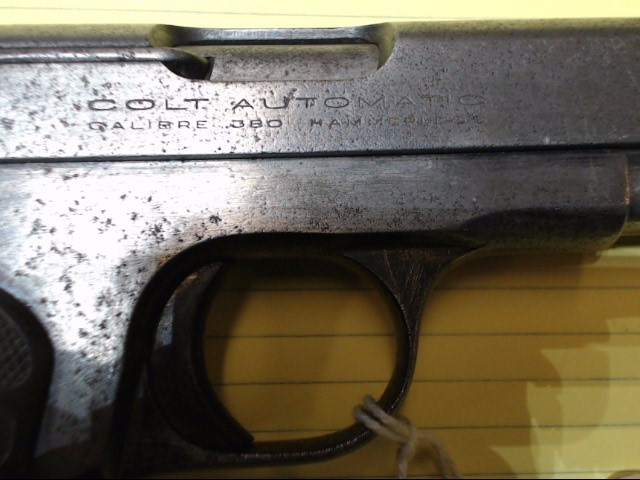 COLT Pistol MODEL 1908 HAMMERLESS .380 POCKET PISTOL