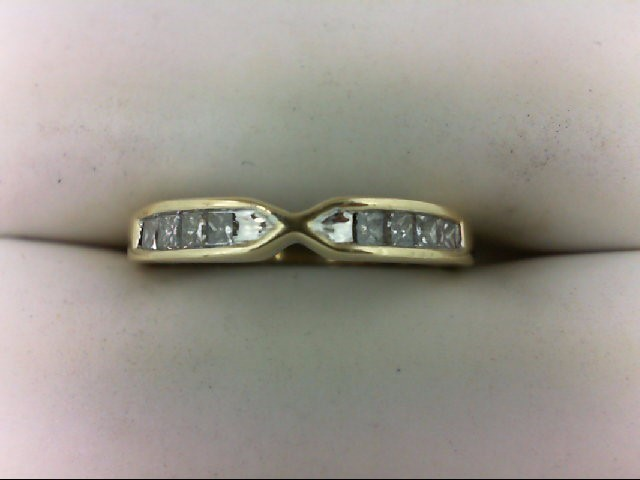 Lady's Diamond Wedding Band 8 Diamonds 0.24 Carat T.W. 14K Yellow Gold 2.4g Size