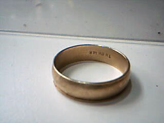Gent's Gold Wedding Band 14K Yellow Gold 4.1g