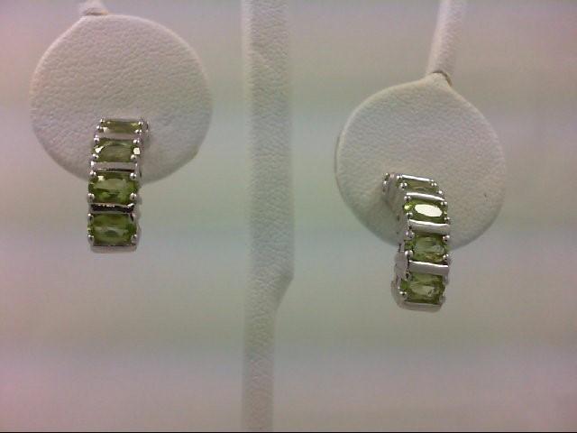 Peridot Silver-Stone Earrings 925 Silver 4.6g