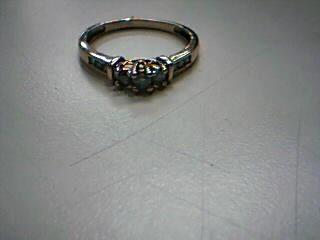 Lady's Diamond Cluster Ring 3 Diamonds .09 Carat T.W. 10K Yellow Gold 1.9g