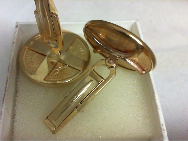 Gold Cuff Links 14K Yellow Gold 24.7g