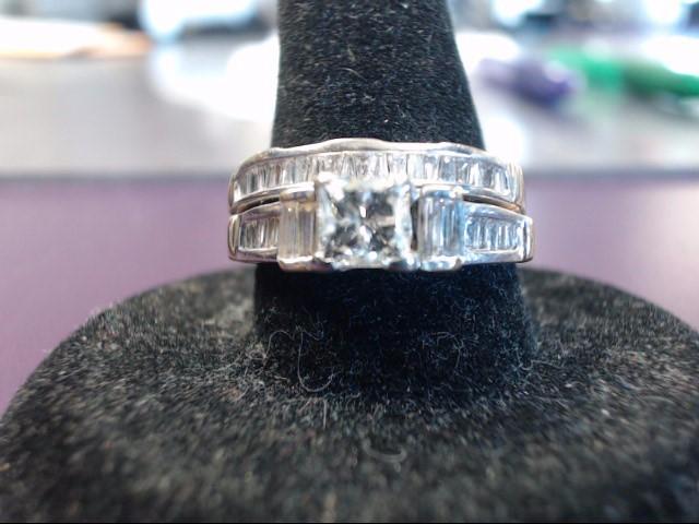 Lady's Diamond Engagement Ring 38 Diamonds 1.03 Carat T.W. 14K White Gold 6.1g