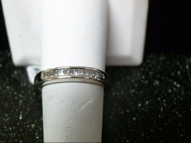 Lady's Diamond Wedding Band 11 Diamonds .55 Carat T.W. 10K White Gold 2.7g