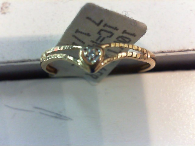 Lady's Diamond Engagement Ring .005 CT. 10K Yellow Gold 0.8g