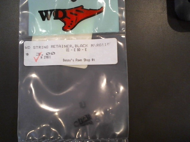 WD STRING RETAINER,BLACK M\RG11B