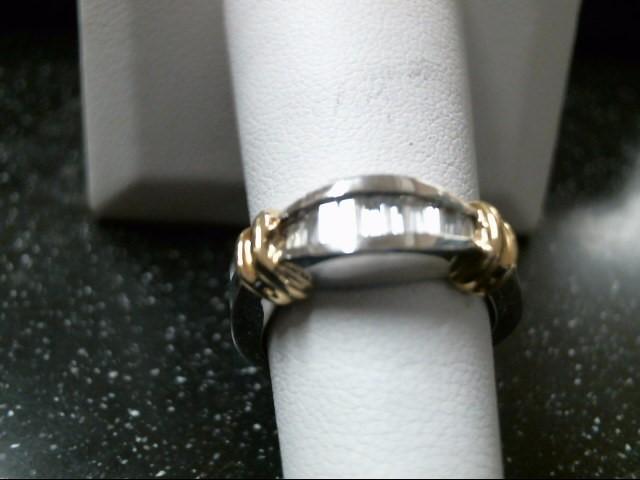 Gent's Diamond Fashion Ring 10 Diamonds .26 Carat T.W. 18K 2 Tone Gold 10.4g