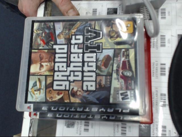 SONY Sony PlayStation 3 GRAND THEFT AUTO IV PS3