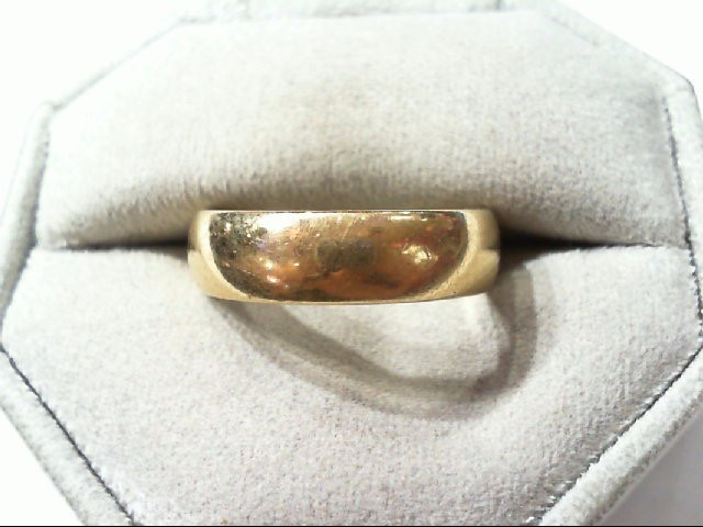 Gent's Gold Wedding Band 14K Yellow Gold 6.6g