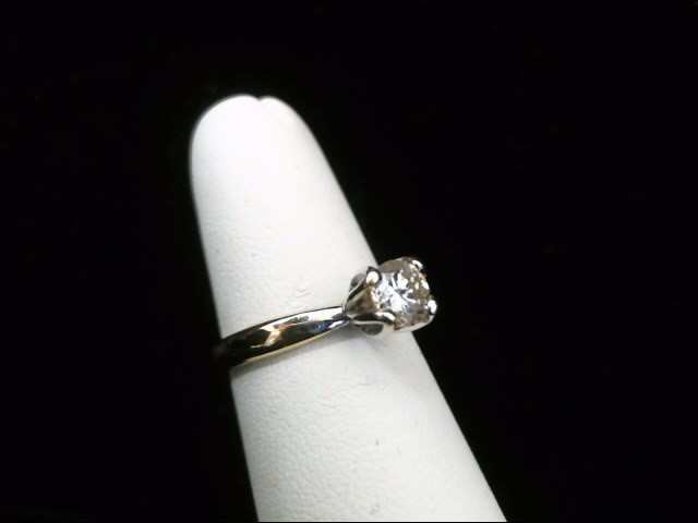 Lady's Diamond Solitaire Ring .36 CT. 14K Yellow Gold 2.1g Size:7