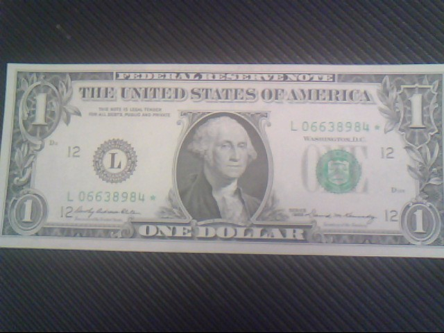 STAR NOTE 1969 ONE DOLLAR